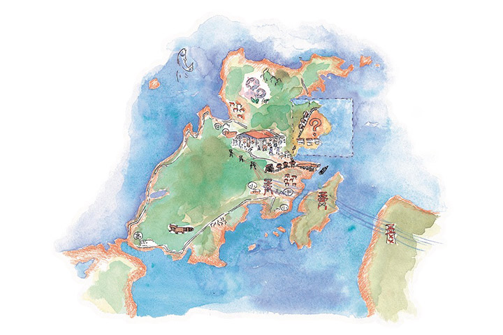 インフラは電気だけ - 大島町への現地調査
