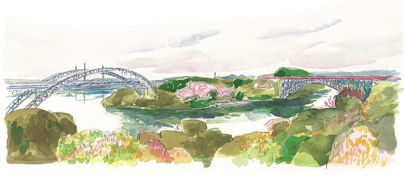 新旧アーチ橋のコントラスト - 新西海橋の開通