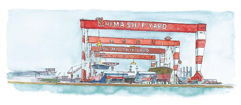世界一のバルク多数隻建造を目指して - ゴライアスクレーンの増設