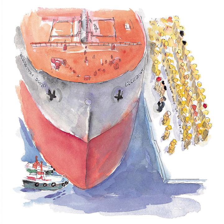 歓喜 - 1番船の進水