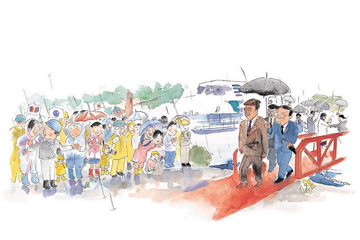 首相・国王が大島造船所へ - マハティール首相、ハラルド5世国王来所