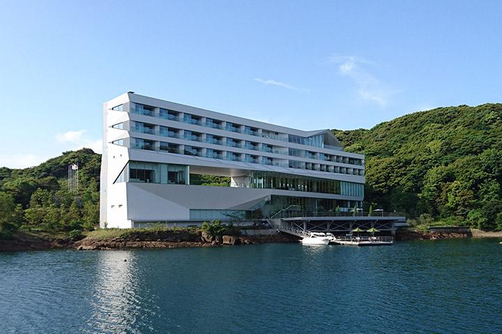 大島造船所の迎賓館オリーブベイホテル開業