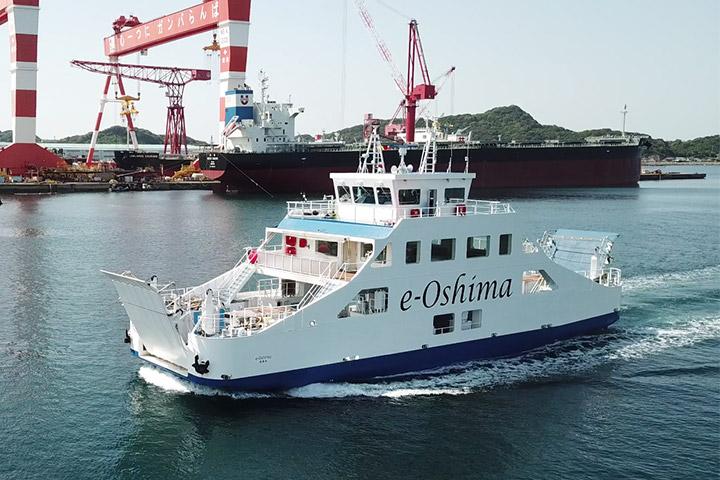 日本初の完全バッテリー駆動船「E/V e-Oshima」