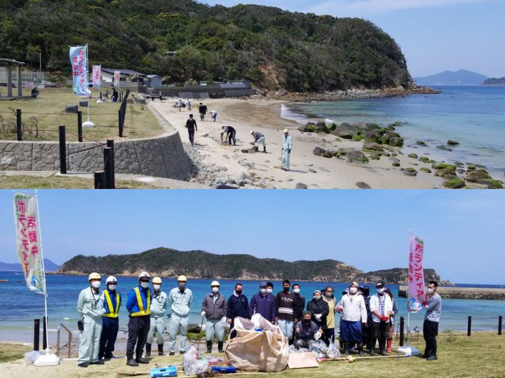 新上五島町にて清掃活動を実施しました